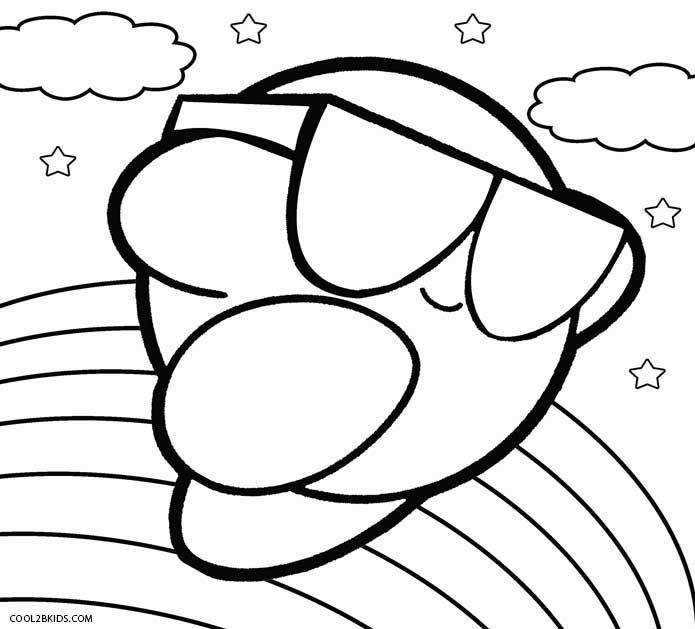 printable kirby coloring pages for kids cool2bkids coloring