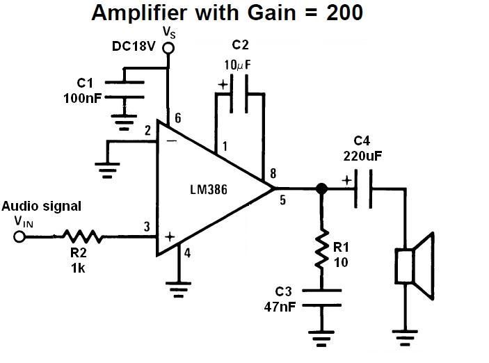 at making a really simple audio amplifier. The schematics
