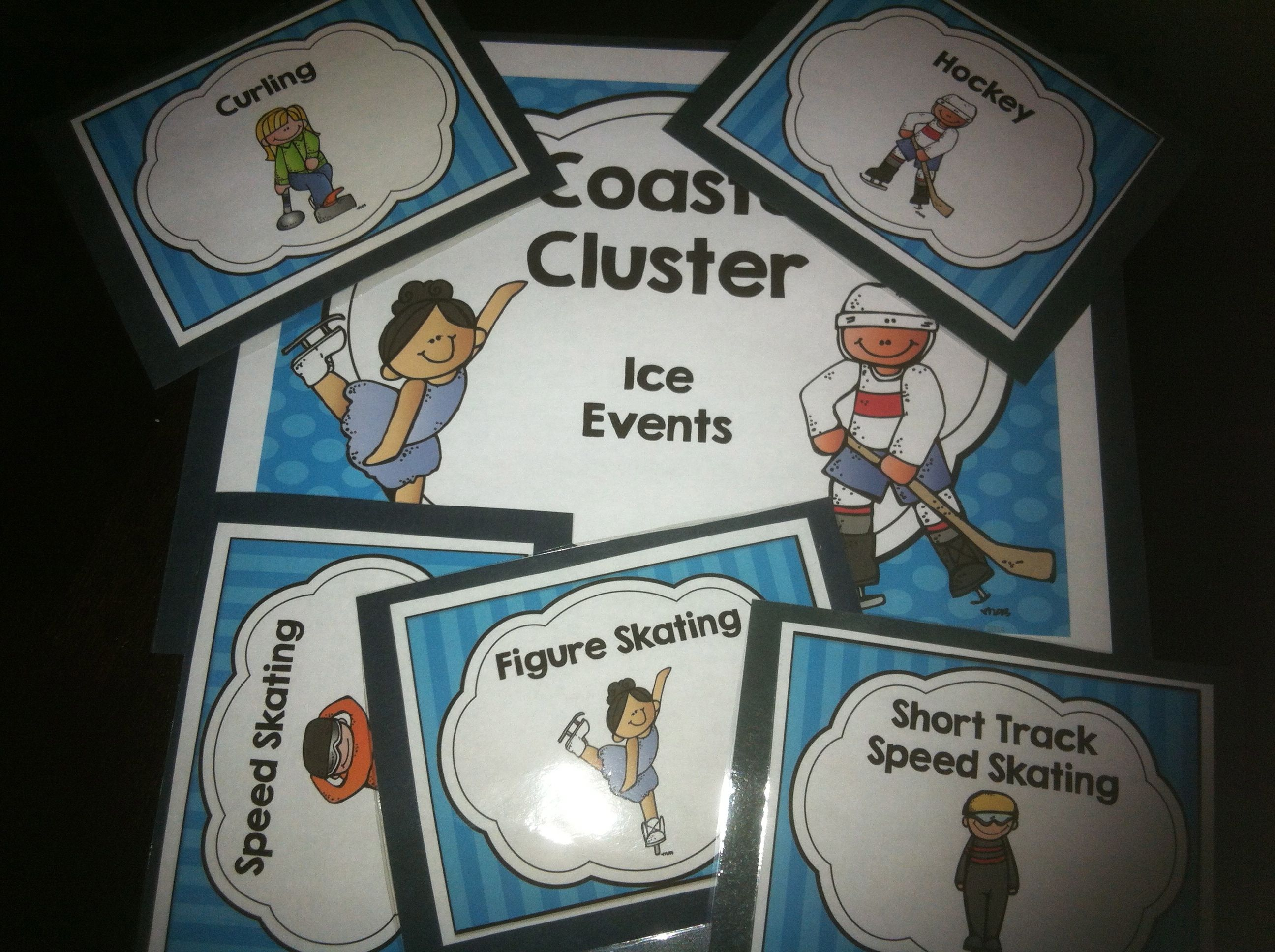 Winter Games 15 Sporting Events Word Cards