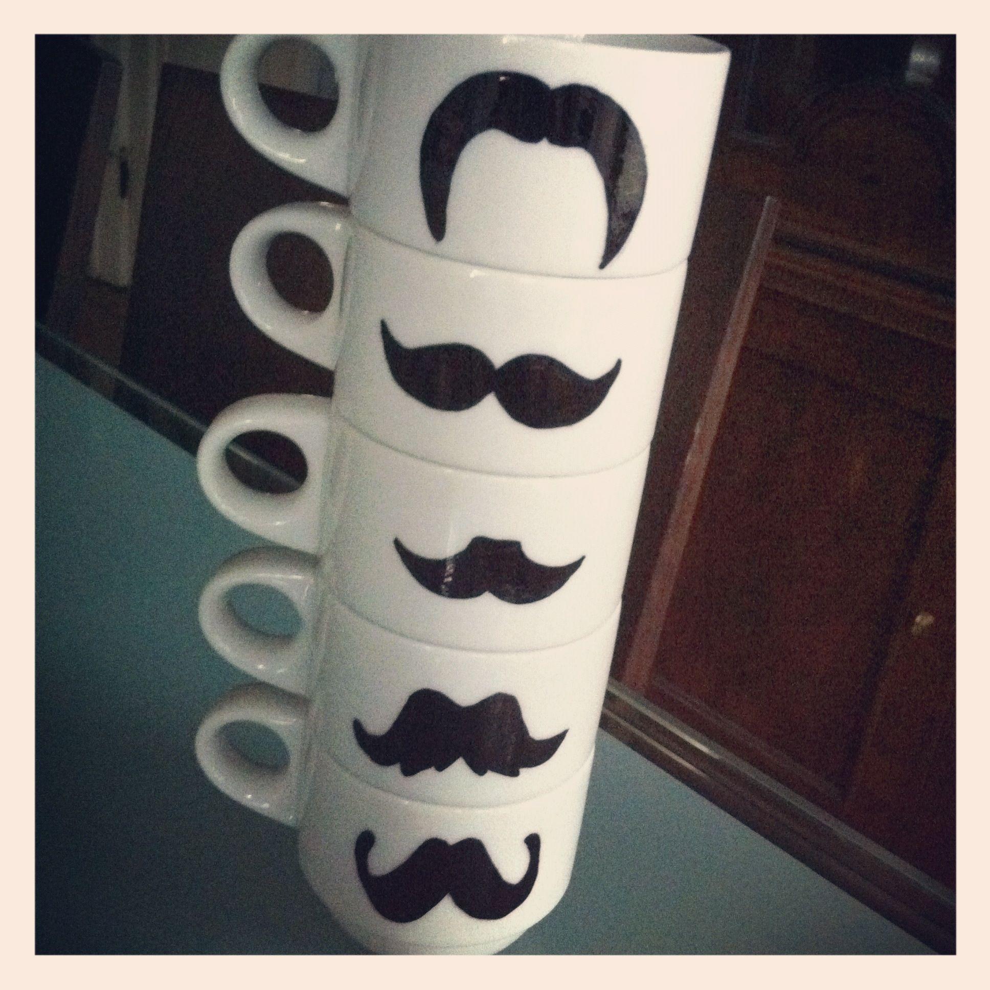 diy mustache mugs (front)