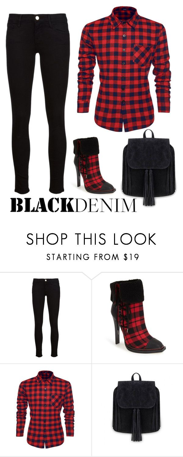 """""""Stroll"""" by patricia-dimmick ❤ liked on Polyvore featuring Frame Denim, gx by Gwen Stefani, women's clothing, women's fashion, women, female, woman, misses, juniors and blackdenim"""