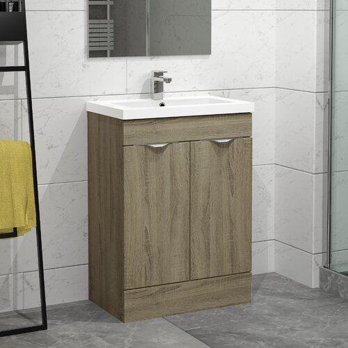 Ellerby 610mm Free Standing Vanity Unit Belfry Bathroom Base Finish Driftwood Vanity Units Free Standing Vanity Vanity