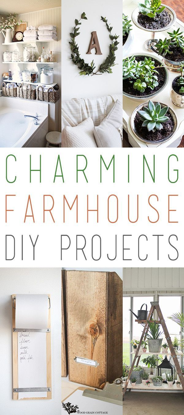 Charming Farmhouse DIY Projects is part of Home Accessories Decor DIY Projects - Some times you just want to add a little something extra to your Farmhouse home…so today we have a random collection of Charming Farmhouse DIY Projects for you  From a gorgeous…simple…elegant Laurel Wreath to a sensational Shutter Bench and many other special projects that will make your home decor smile  So sit back…enjoy a cup …