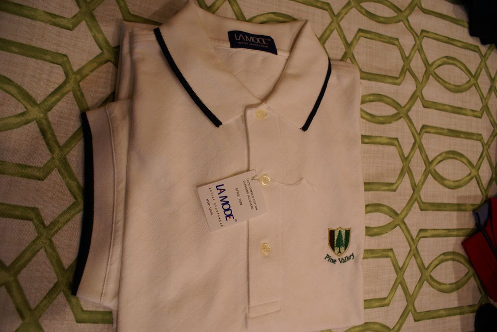 Pine Valley Country Club Mens Golf Shirt Size XL White New ...