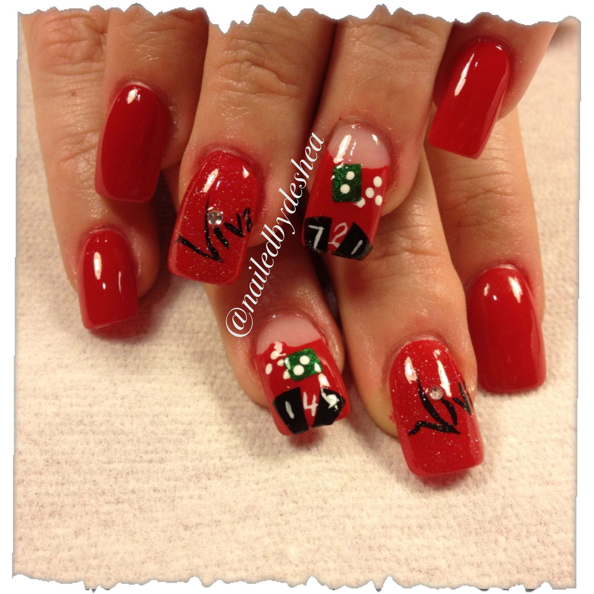 Viva Las Vegas Nails Nailart Nailed By Deshea Pinterest Las