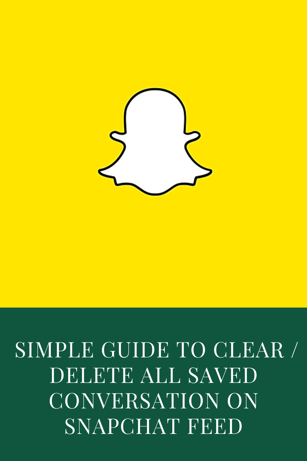 Simple Guide To Clear Delete All Saved Conversation On Snapchat Feed 2020 Conversation Snapchat Snapchat Conversation