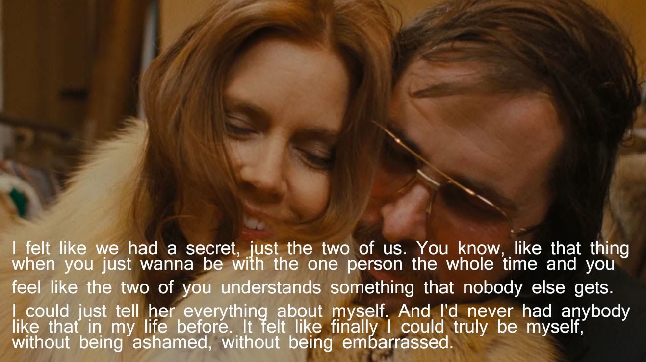 Amazing Chemistry Between Cb And Amy Adams Two Of My Fav Actors American Hustle American Hustle American Hustle Quotes Christian Bale
