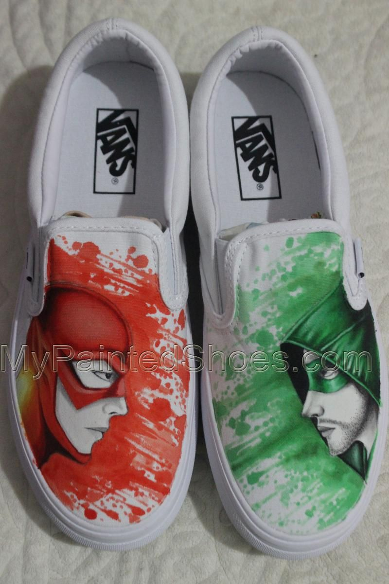 c839a3228be0 Hand Drawn Arrow And Flash Vans Shoes Hand Painted Shoes