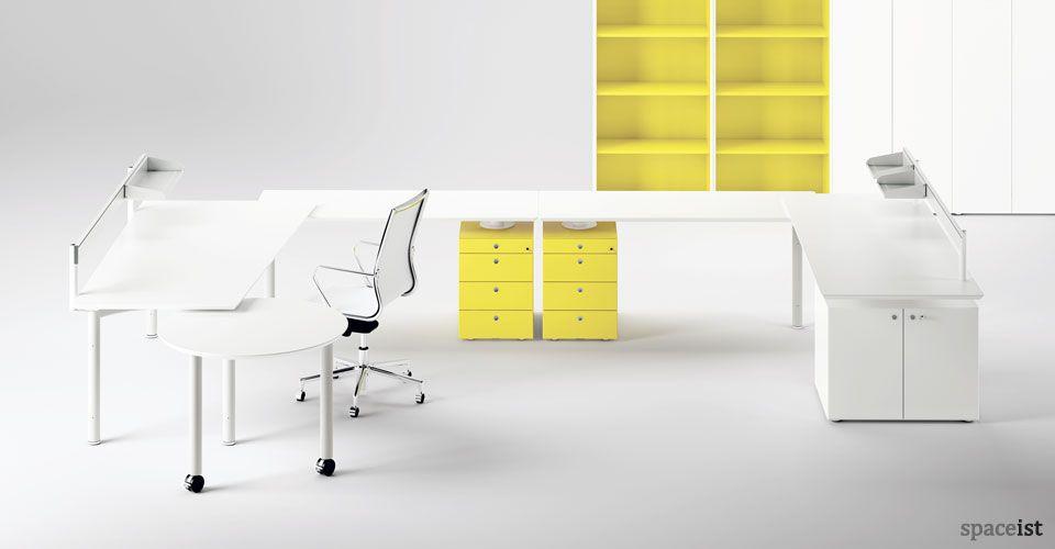 Meta U Shaped Desk White Office