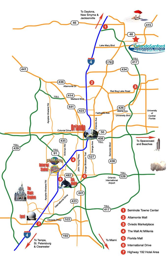 map of orlando attractions Orlando Attractions Disney World Trip Disney Trip Planning map of orlando attractions