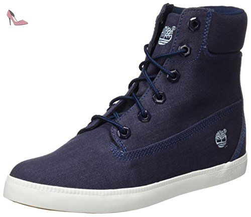 Newport CanvasbtblackBottes Timberland In 6 Bay Classiques Femme D2IeYWH9Eb