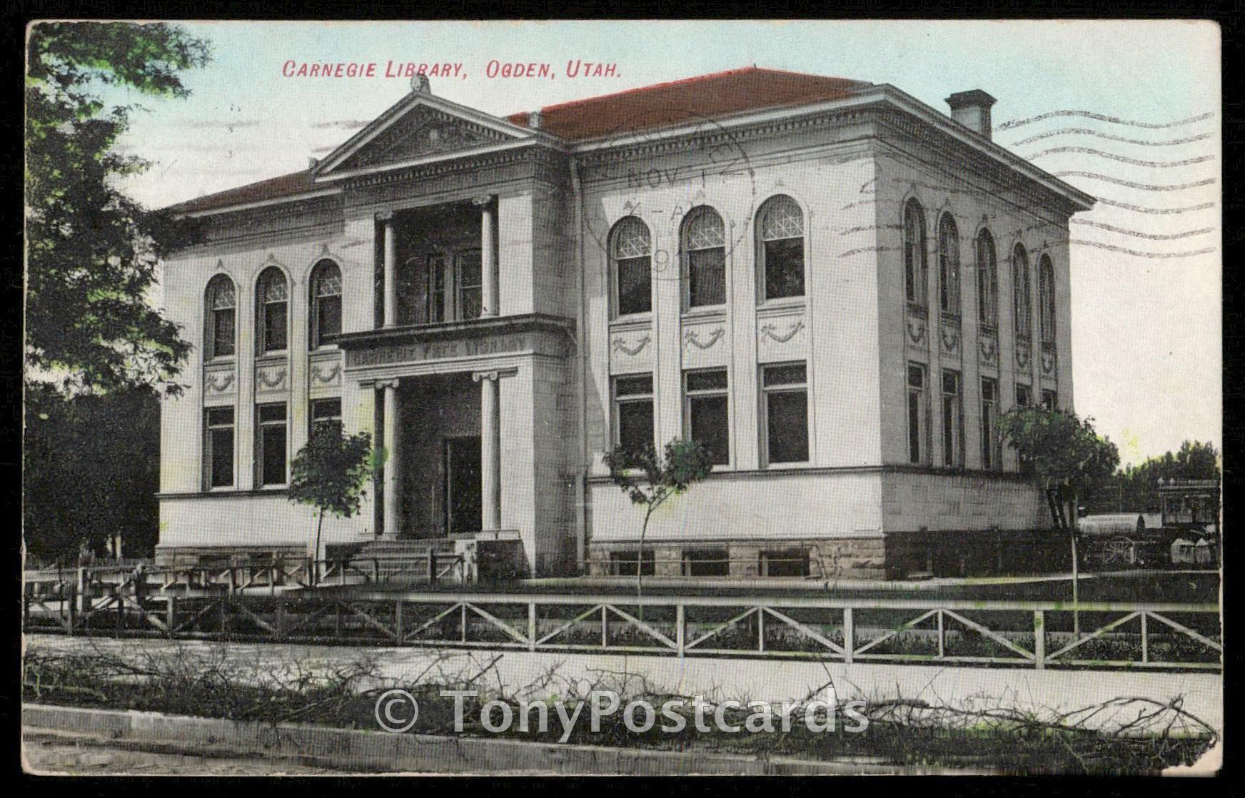 Carnegie Library Ogden Utah Ogden Postcards