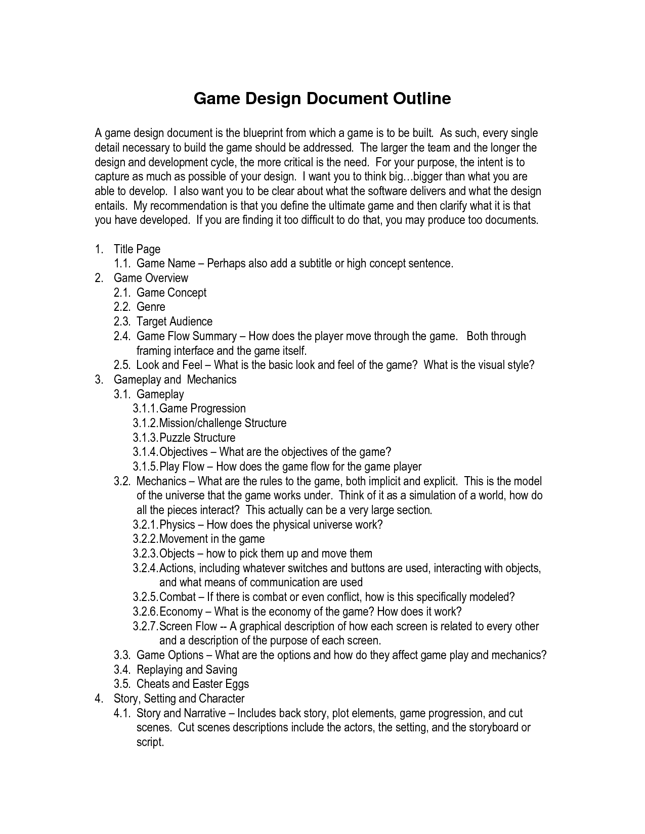 Game Design Document Template  Get Now Doc  Doc Images  Frompo