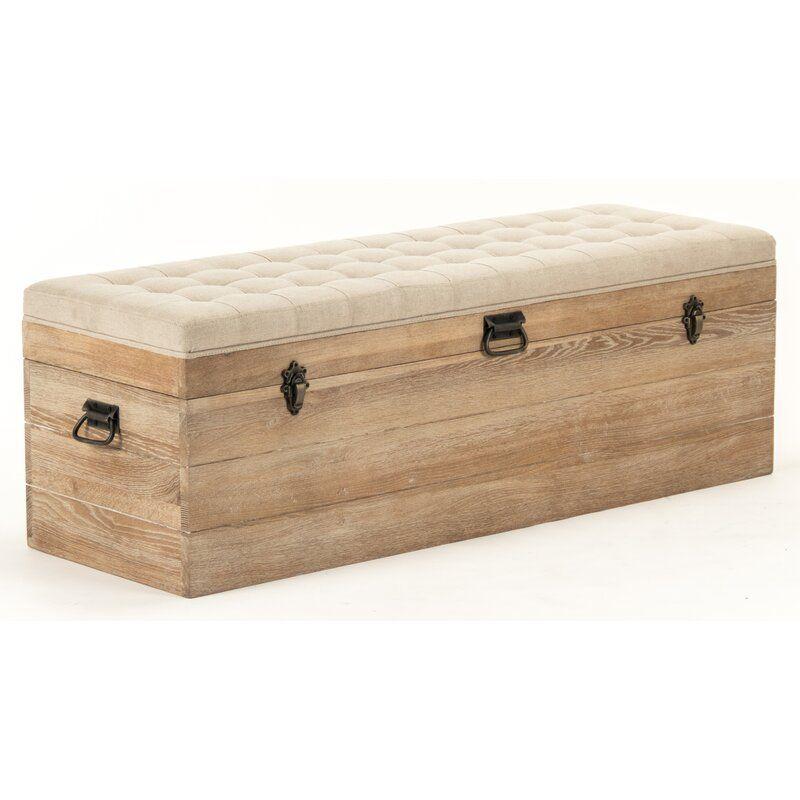 Stockage Upholstered Storage Bench En 2020 Baul De Madera Pie De Cama Mueble Muebles De Madera Hechos A Mano