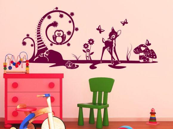 Kinder Wandtattoo Märchen Motive Wandtattoo Kinderzimmer Märchenwald Wandtattoos  Kinder