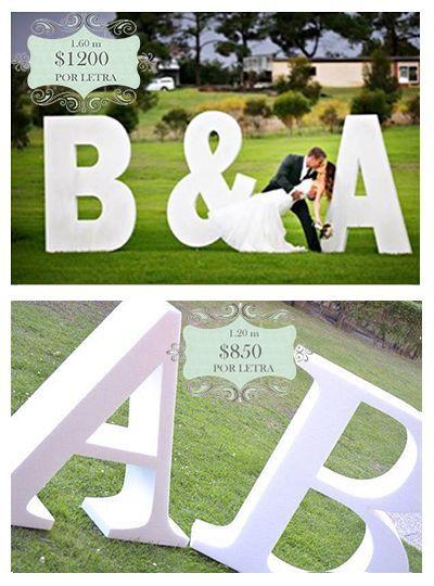 3ea9f05e96 Letras para boda