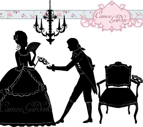 Silhouette Masked Ball Clipart