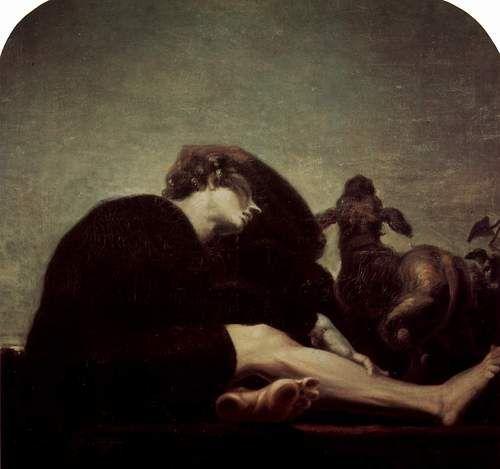 Johann Heinrich Füssli - Die Einsamkeit bei Tagesanbruch (1794-1796)   [Loneliness in the Morning Twilight]
