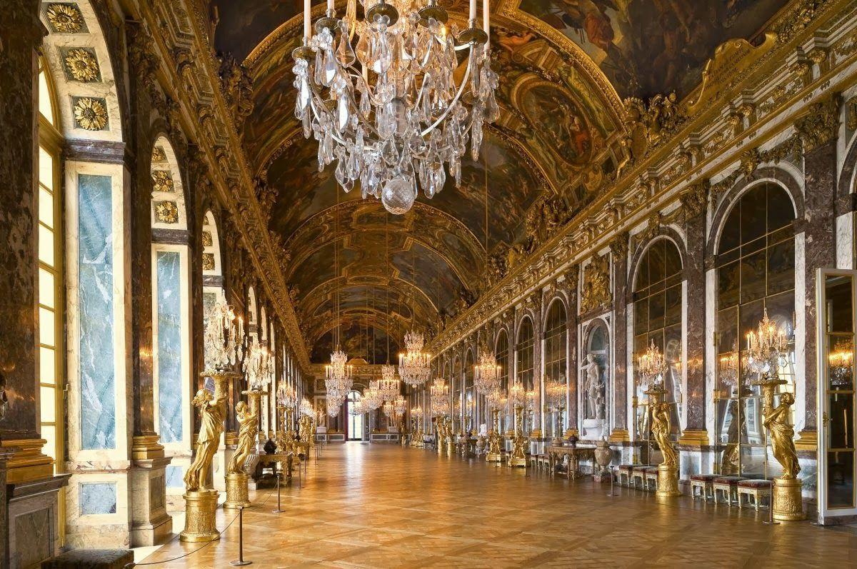 Palacio de versalles sal n de los espejos barroco for Salon de espejos