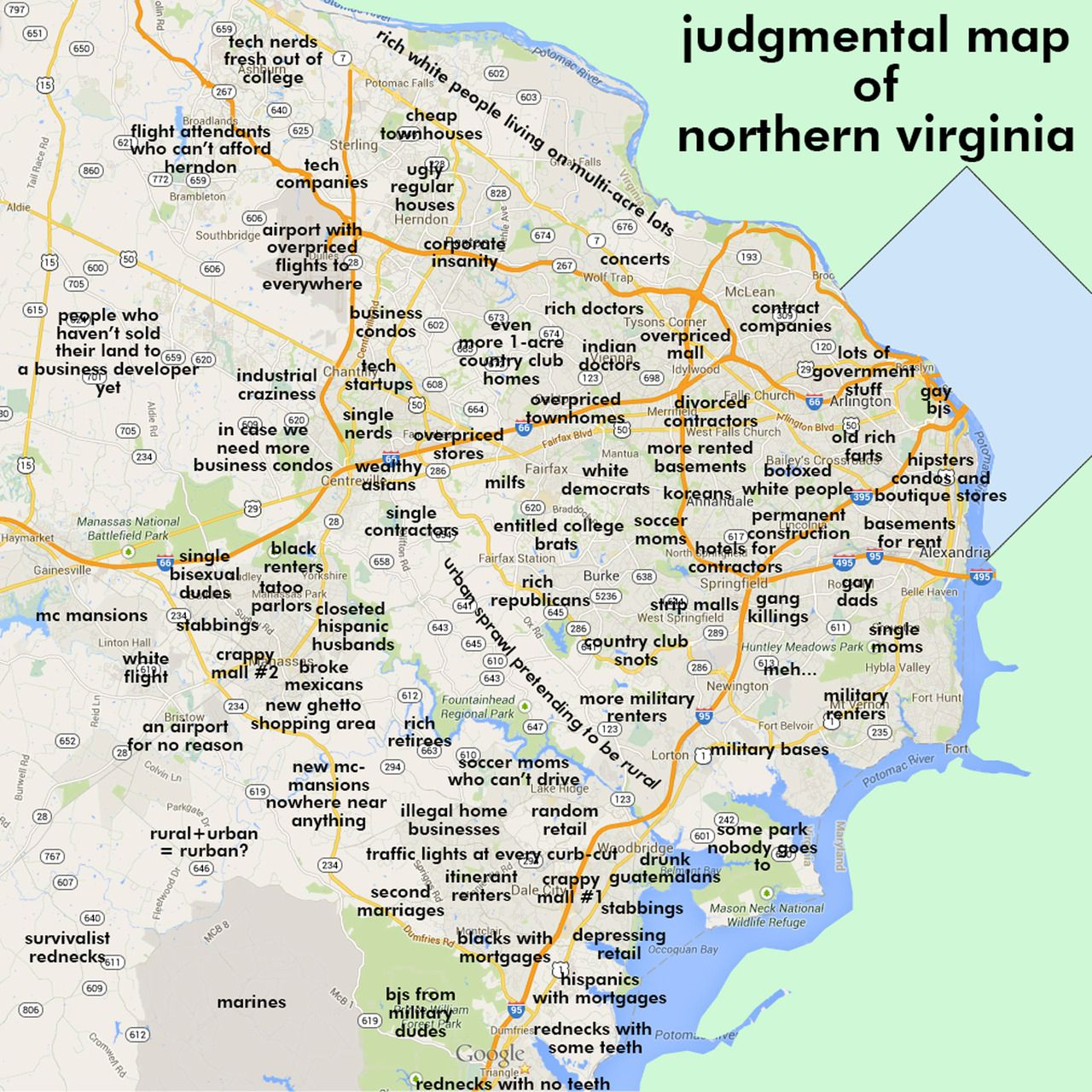 Northern Virginia Arlington VA By Robert Thompson Robert - Maryland map funny