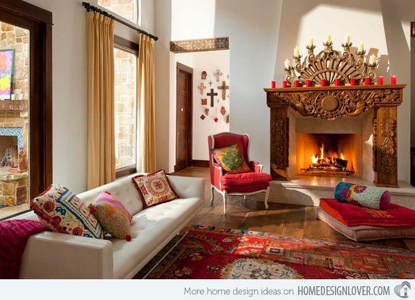 15 Beautiful Living Room Interior Design Ideas Mexican Home