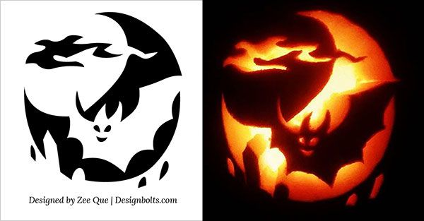10 Free Halloween Scary U0026 Cool Pumpkin Carving Stencils / Patterns . Part 9