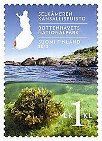 Selkämeren kansallispuisto. Postimerkki 2012