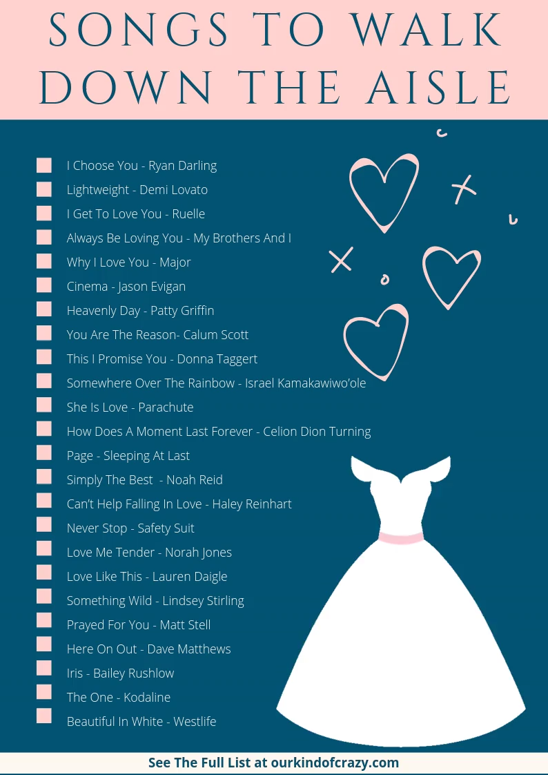 Songs To Walk Down The Aisle To in 2020 Best wedding