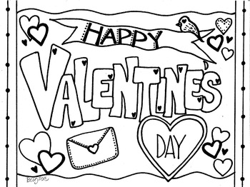 Happy Valentine\'s Day Coloring Sheet | Valentine coloring ...