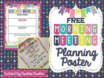 Free morning meeting planning poster to record daily greeting free morning meeting planning poster and forms m4hsunfo Choice Image