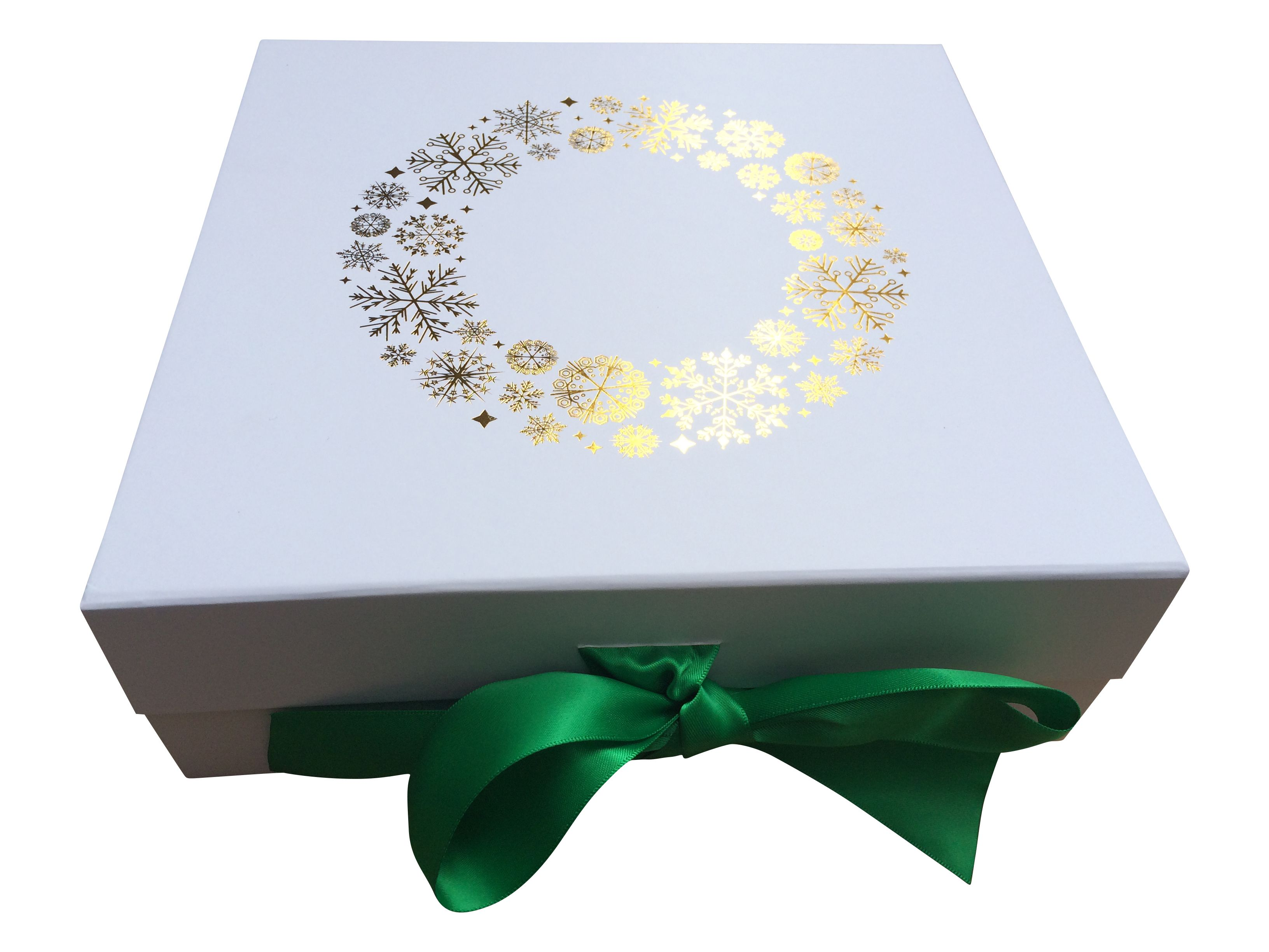 Christmas themed corporategift box with gold foil print