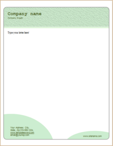 Business Green Dots Letterhead Download At Letterhead Templates