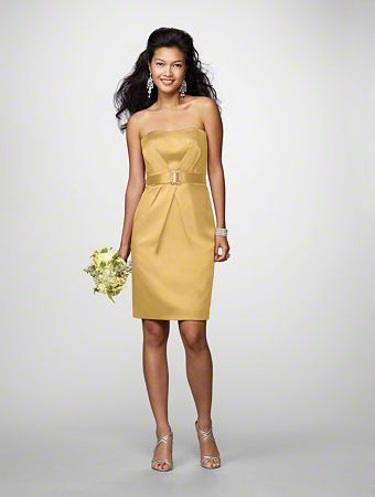 possible bridesmaid dress in gold