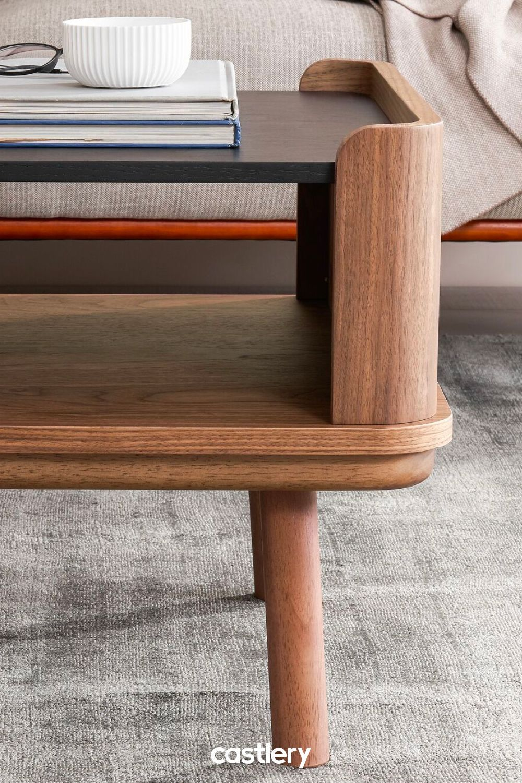 Strato Coffee Table Walnut Dark Wood Coffee Table Mid Century Coffee Table Coffee Table Wood [ 1500 x 1000 Pixel ]