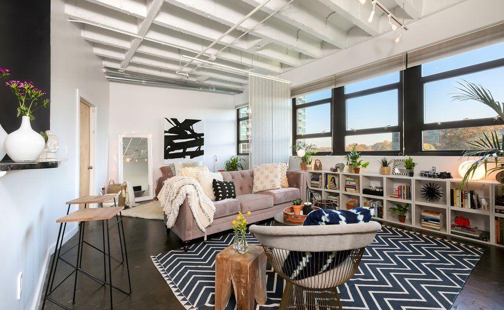 midtown loft modern mid century design wakeandloom w l living