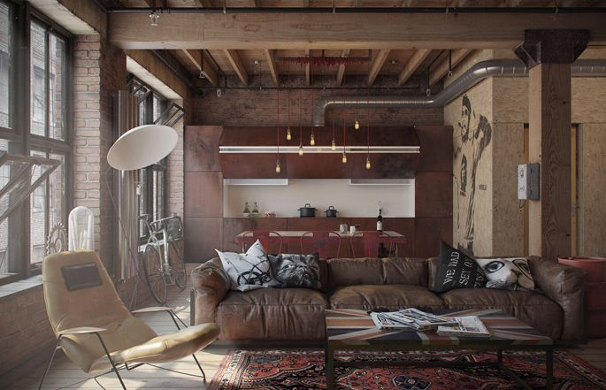 A Loft Apartment Bachelor Pad | Lofts, Apartments and Living rooms