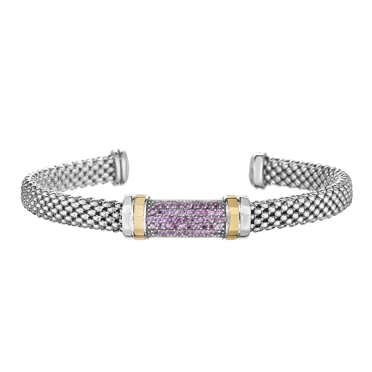 pink and itm created bracelet in sterling silver opal sapphire gold ct plated