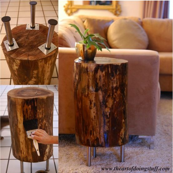 Tree Stump Coffee Table Diy: How To Make A Tree Stump Side Table