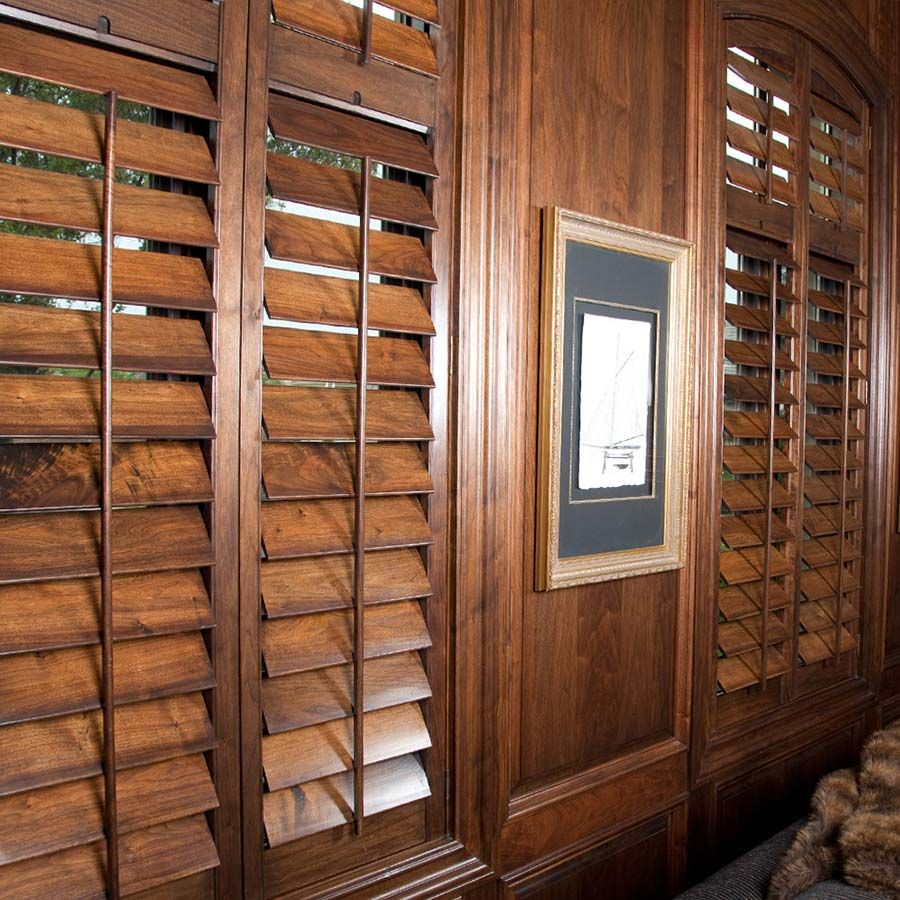 Designer wood shutters from selectblinds com