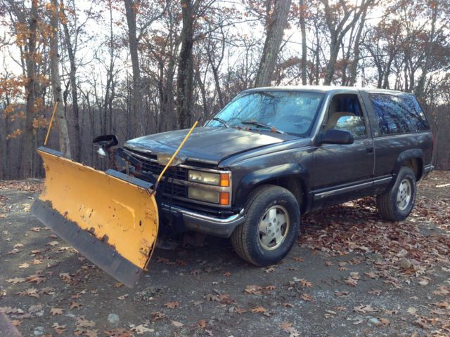 1992 Chevy K1500 K5 Blazer Meyer Snow Plow Yard Shop Truck 4x4 V8 Rat Hot Rod Ny Chevy Snow Plow Shop Truck