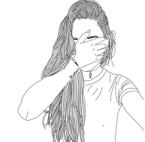 Schwarz Weiss Tja Drawings Tumblr Girl Drawing Und Tumblr Outline