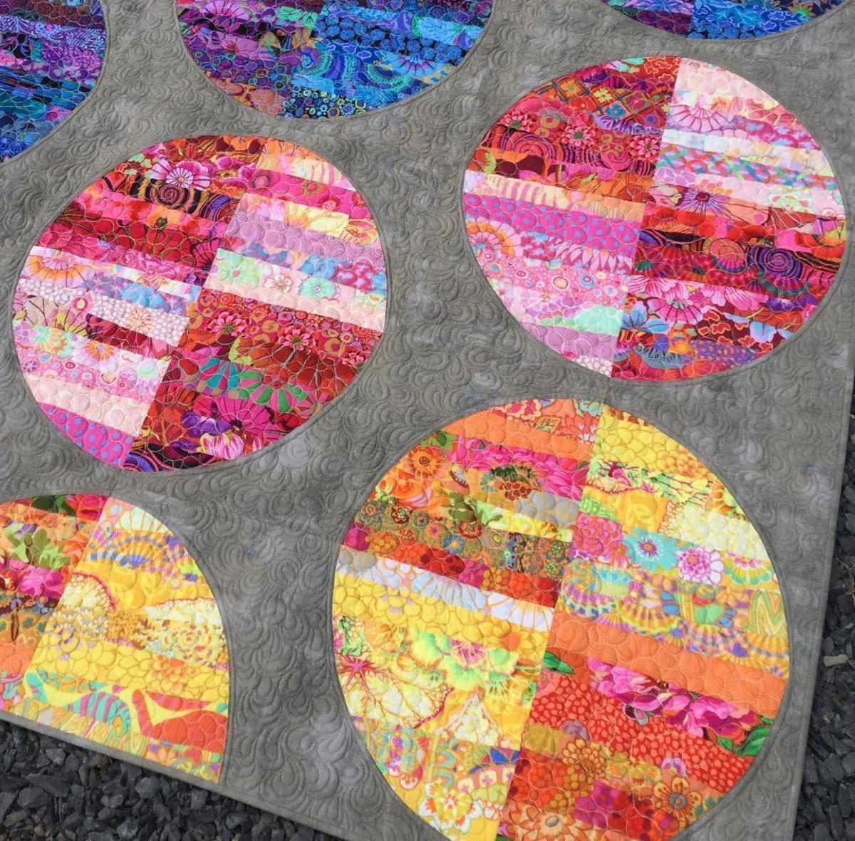 Cosmos Craftsy Strip circles Circle quilt patterns