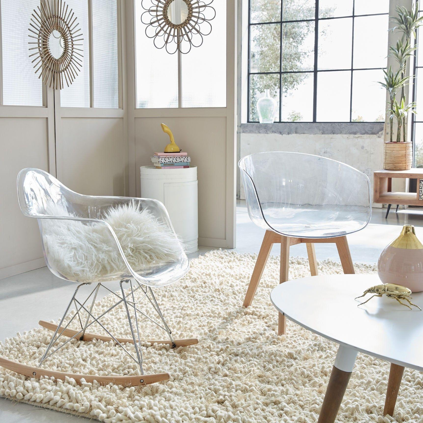 ScandinaveHome Chair Plexi Style Design De Rocking Mobilier En 3Ljq4R5A