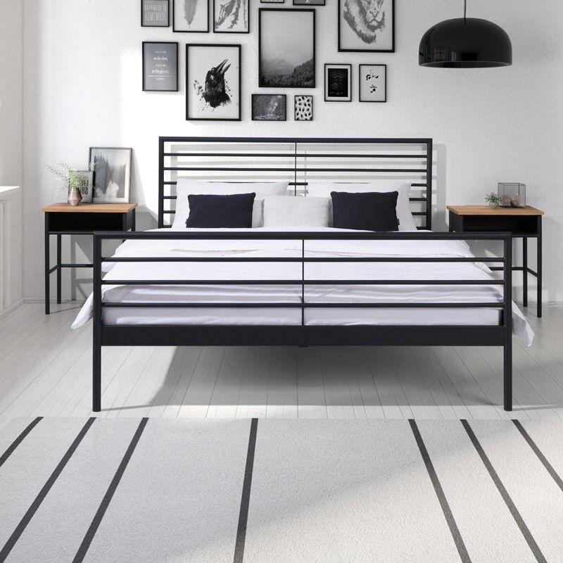 Linea Nowoczesne Lozko Z Metalu 160x200 Cm Bett Metall Bett 160x200 Bett