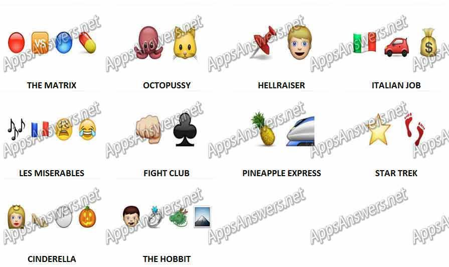 Guess The Emoji Movies Level 3 Answers Guess The Emoji Emoji Movie Emoji Quiz