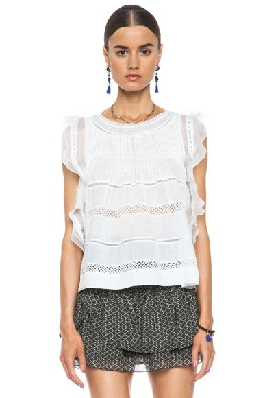 Isabel Marant|Ojima Ramie Top in White