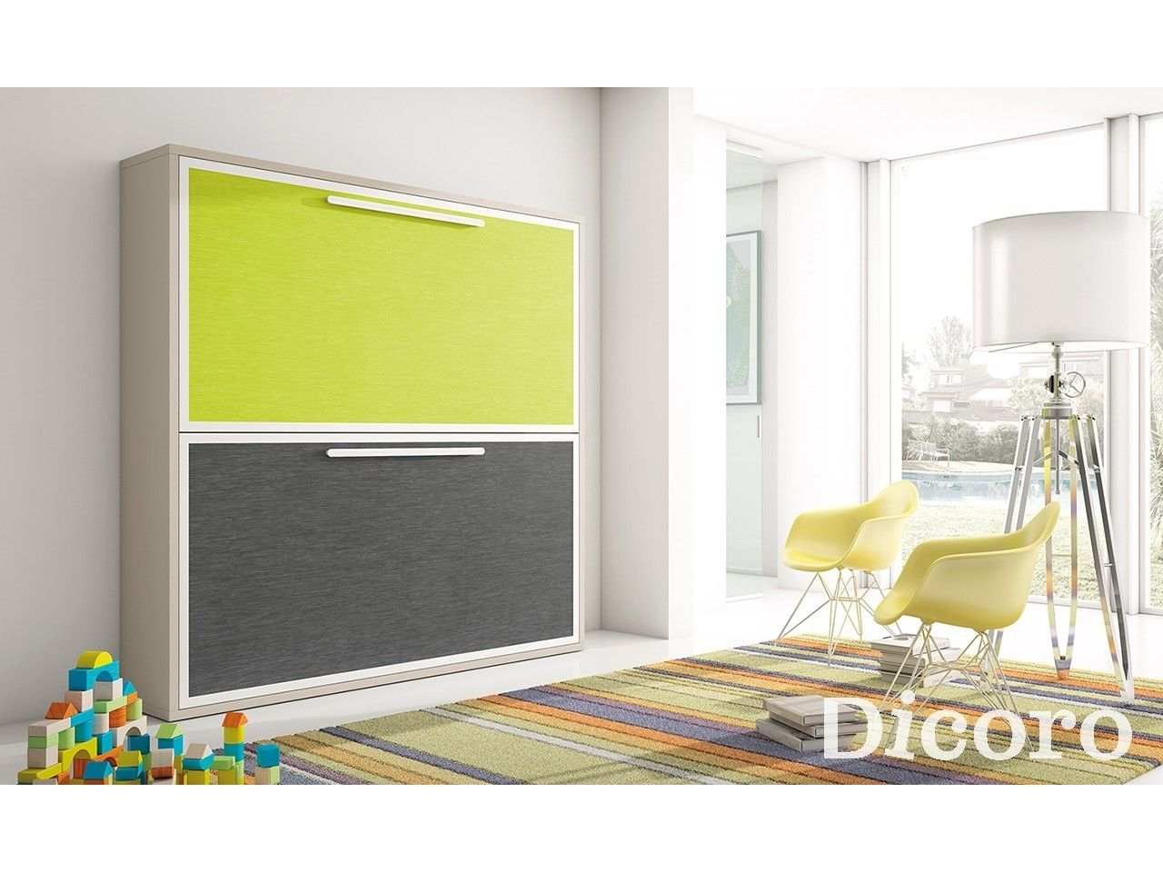 Cama abatible doble dreams home 39 in - Camas infantiles abatibles ...
