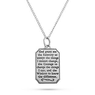 Sterling silver serenity prayer necklace at things remembered i sterling silver serenity prayer necklace at things remembered mozeypictures Images