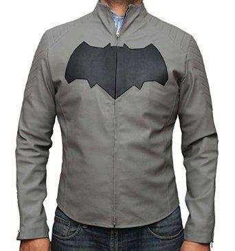 Batman Grey Leather Jacket