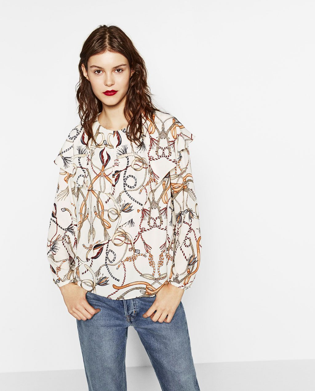 fe71bec0ddee9 DOUBLE FRILL CHAIN PRINT TOP-View all-TOPS-WOMAN